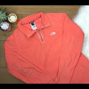 The North Face Orange Fleece Zip Up Jacket #484